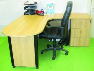 New-Curved-Oak-Desk-with-Three-Drawer-Pedestal