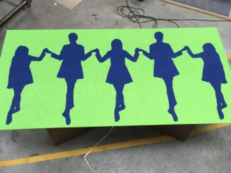 Shaped-Noticeboard-Irish-Dancers