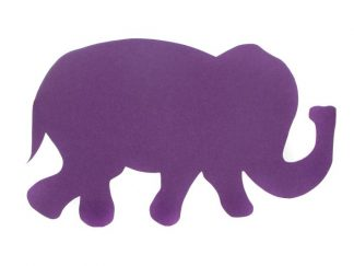 Shaped-Noticeboard-Purple-Elephant
