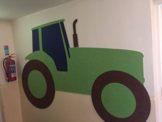 Shaped-Noticeboard-Tractor