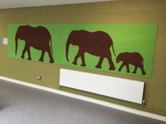 Shaped-Noticeboards-Elephant-Family